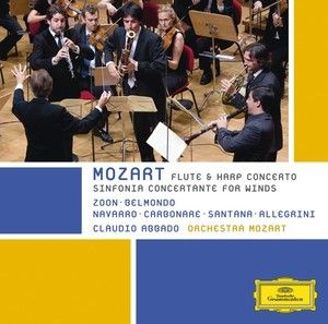 W.A.MOZART: Concerto for flute, harp and orchestra
